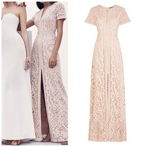 7e73ba1875496 BCBGMaxAzria Dresses - New BCBGMAXAZRIA Cailean Floral Lace Gown Cameo